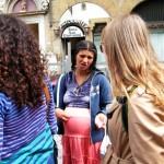 Gypsie begging in Florence