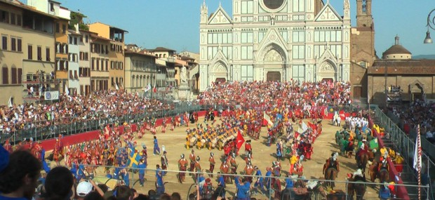 Historical Soccer Santa Croce Square Florence